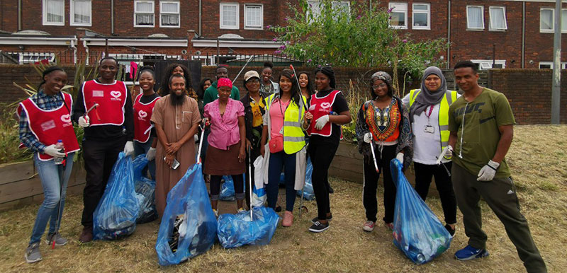 Plaistow VYG helps clean-up Jeyes Estate Gree