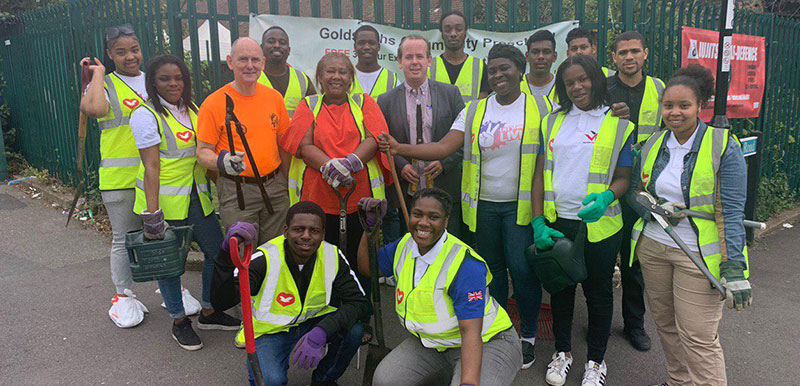 Catford VYG clean up Goldsmith's Community Centre for their annual 'We Care' Youth Engagement day